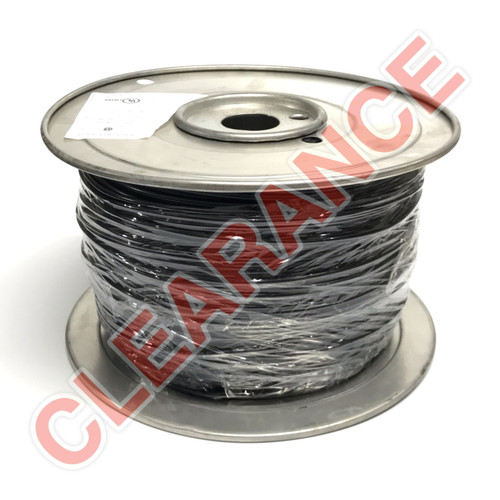 12 AWG Stranded Hook-Up Wire, Machine Tool Wire, Black PVC Insulation, 600V, 1000 ft Spool
