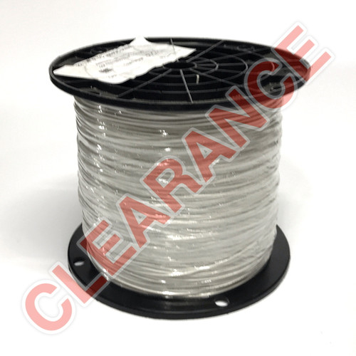 """22 AWG Stranded Hook-Up Wire, UL1061, White 0.010"""" PVC Insulation, 300V, 3000 ft Spool"""
