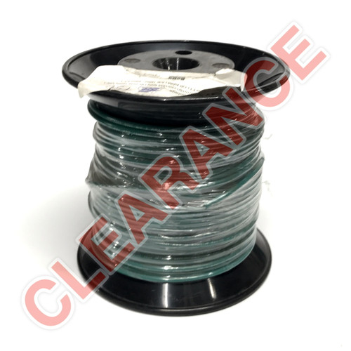 12 AWG Stranded Hook-Up Wire, UL1015, Green PVC Insulation, 600V, 150 ft Spool