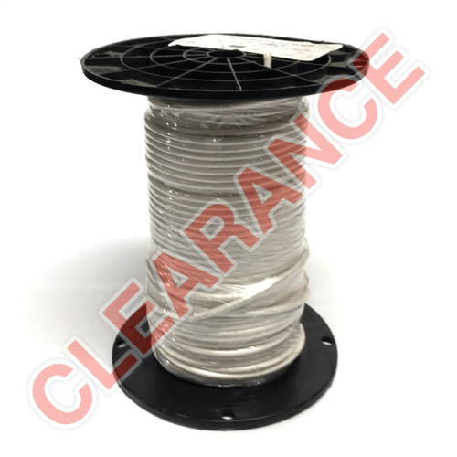 10 AWG Stranded Hook-Up Wire, UL1015, White PVC Insulation, 600V, 265 ft Spool