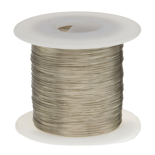 """Tinned Copper Wire, Buss Wire, 18 AWG, 100' Length, 0.0403"""" Diameter, Silver, Bus Bar Wire, 18TCW"""