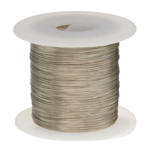 """Tinned Copper Wire, Buss Wire, 20 AWG, 100' Length, 0.0320"""" Diameter, Silver, Bus Bar Wire, 20TCW"""
