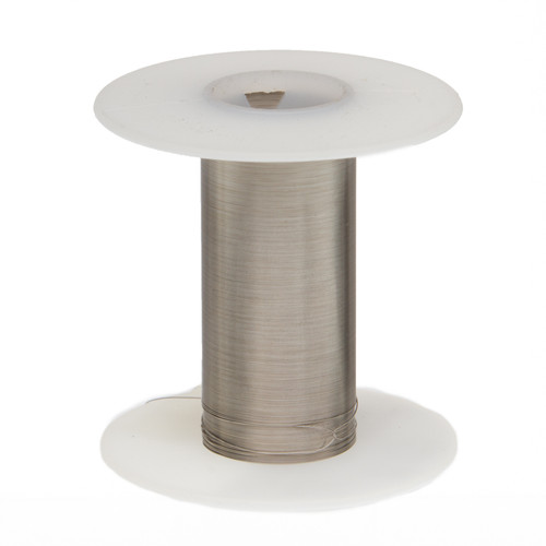 """Tinned Copper Wire, Buss Wire, 28 AWG, 100' Length, 0.0126"""" Diameter, Silver, Bus Bar Wire, 28TCW"""