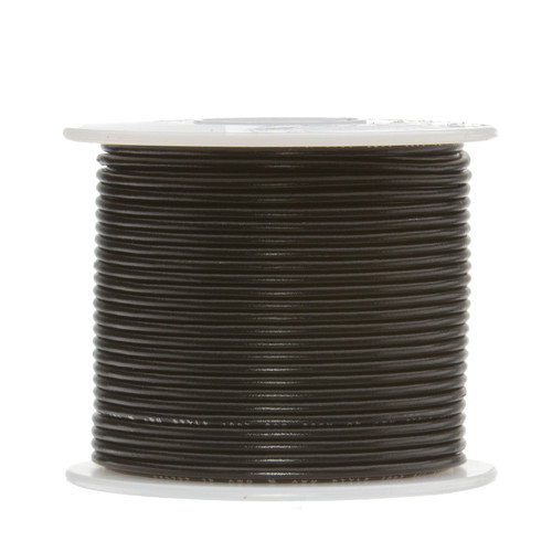 "24 AWG Gauge Stranded Hook Up Wire, 100 ft Length, Black, 0.0201"" Diameter, UL1015, 600 Volts, 24UL1015STRBLA"