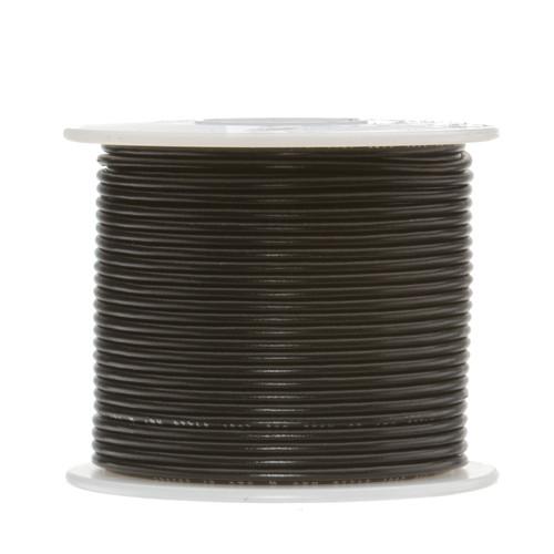 "22 AWG Gauge Stranded Hook Up Wire, 100 ft Length, Black, 0.095"" Diameter, UL1015, 600 Volts, 22UL1015STRBLA"