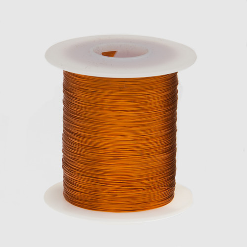 """Magnet Wire, Enameled Copper Wire, 24 AWG, 2 oz, 98' Length, 0.0220"""" Diameter, 200°C, Natural, 24H200P.125"""