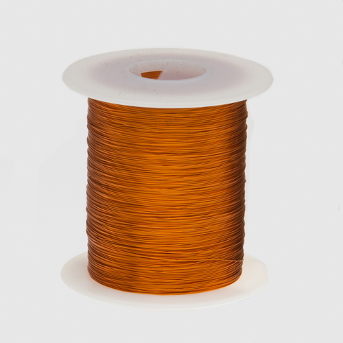 """Magnet Wire, Enameled Copper Wire, 26 AWG, 2 oz, 157' Length, 0.0176"""" Diameter, 200°C, Natural, 26H200P.125"""