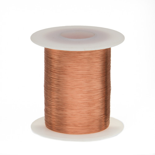 """Magnet Wire, Enameled Copper Wire, 44 AWG, 2 oz, 9975' Length, 0.0022"""" Diameter, Natural, 44SNSP.125"""