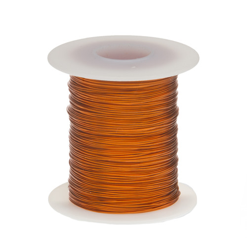 """Magnet Wire, Enameled Copper Wire, 18 AWG, 2 oz, 25' Length, 0.0428"""" Diameter, 200°C, Natural, 18H200P.125"""
