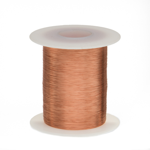 """Magnet Wire, Enameled Copper Wire, 43 AWG, 2 oz, 8262' Length, 0.0024"""" Diameter, Natural, 43SNSP.125"""