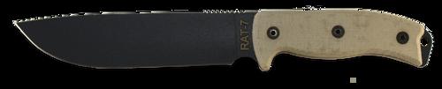 Ontario RAT 7 Fixed Blade Knife, 8668