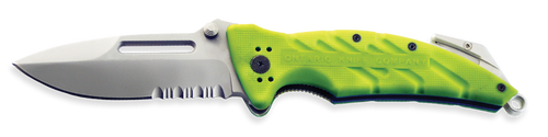 Ontario XR-1 | Extreme Rescue Folding Knife | Safety Green | 8763