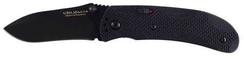 Ontario Joe Pardue Utilitac 1A Assisted Opening Knife | Black Plain | 8873