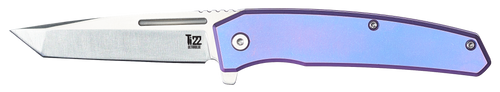 Ontario Ti 22 Ultrablue Folding Knife| Ultraviolet Handle | 9800