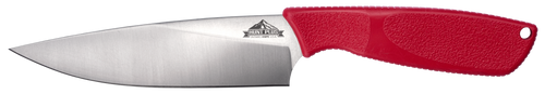 Ontario Hunt Plus Advanced Camp Knife | Red Handle | Leather Sheath | 9717RED