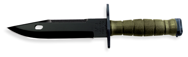 Ontario Knife M9 Bayonet with Sheath, Green Handle, 6220
