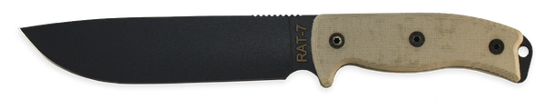 Ontario RAT 7 Fixed Blade Knife, 8668