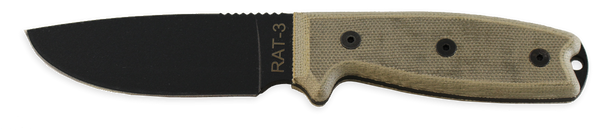 Ontario RAT 3 Fixed Blade Knife, 8665 and 8666