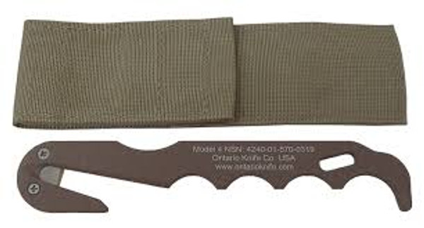 Ontario Model 4 Strap Cutter, Coyote Brown, 1431