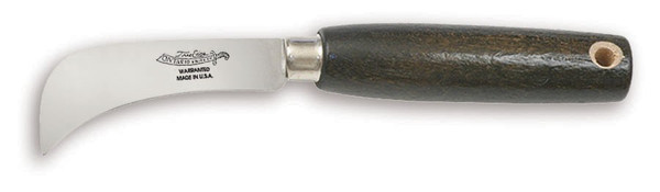 "Ontario 5 - 3"" Grape Hook Knife with Hardwood Handle, 5180"