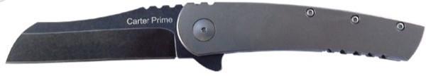 Ontario Carter Prime Flip Folder Knife   OKC 8875   D2 Blade   Titanium Handle