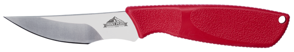 Ontario Hunt Plus Advanced Caper | Red Handle | Leather Sheath | 9718RED