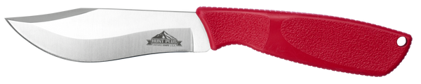 Ontario Hunt Plus Advanced Recurve Knife | Red Handle | Leather Sheath | 9720RED