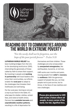 Reaching Out to Others Around the World Living in Extreme Poverty (B/W)
