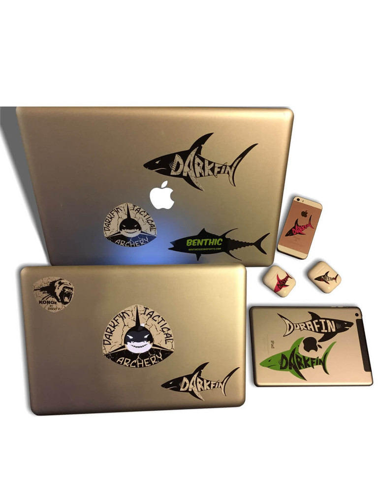 Darkfin Reflective Shark Sticker