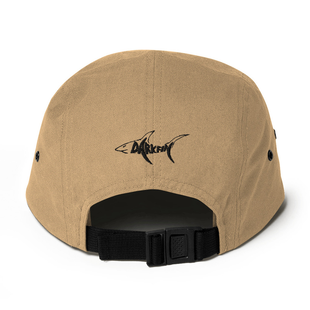 Darkfin Unisex Five Panel Hat - Black shark