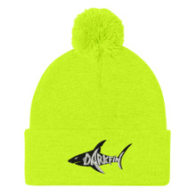 DARKFIN Pom-Pom Beanie - Black Shark