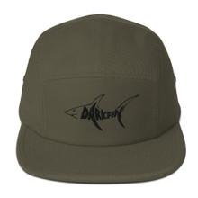 Darkfin Unisex Five Panel Hat - Black shark