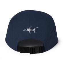 Darkfin Unisex Five Panel Hat - White shark