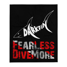 DarkFin Fearless Throw Blanket