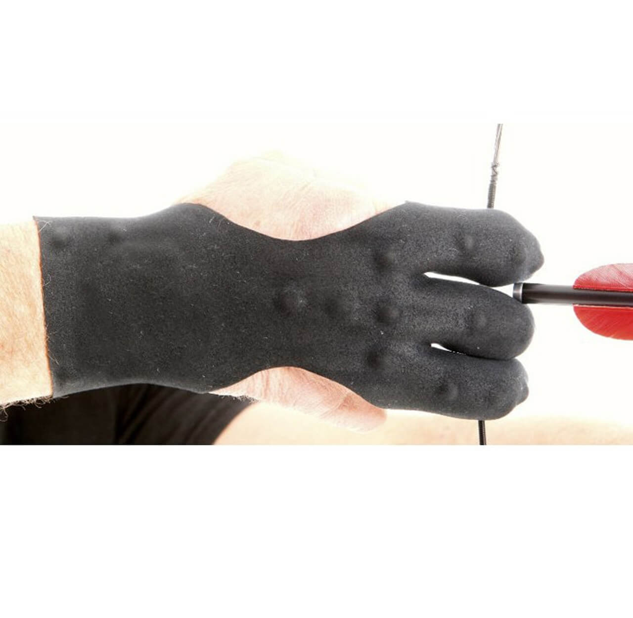 ARCHERS REAL LEATHER SHOOTING 4 FINGER GLOVE BLACK /& CHOCOLATE BROWN