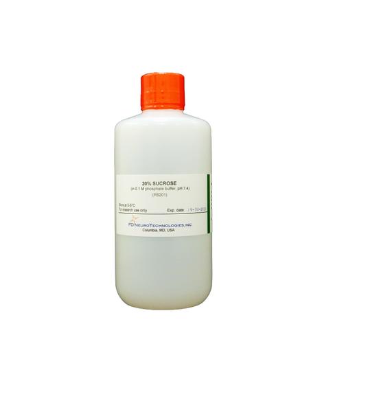 20% sucrose (in 0.1 M phosphate buffer, pH 7.4)