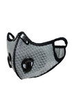 Light Grey Dual Valve Mesh Sport Face Mask with PM2.5 Filter