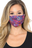 Candyland Paisley Graphic Print Face Mask