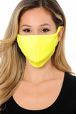 Summer Yellow Scuba Knit Face Mask - Made in the USA