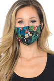 Tropical Floral Graphic Print Face Mask
