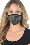 Faded Vintage Cotton Camouflage Face Mask