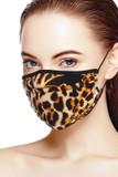 Tri-Fold Chic Moda Leopard Face Mask - Made in USA