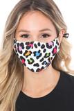 Colorful Leopard Spots Graphic Print Face Mask