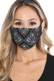 Face Frame Black Bandana Graphic Face Mask