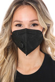 Black KN95 Disposable Surgical Mask with Air Valve - Individually Wrapped
