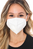 White KN95 Face Mask with Air Valve