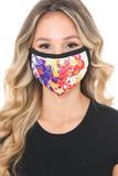 Paint Splat Graphic Print Face Mask