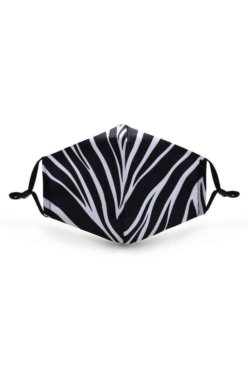 Zebra Graphic Print Face Mask