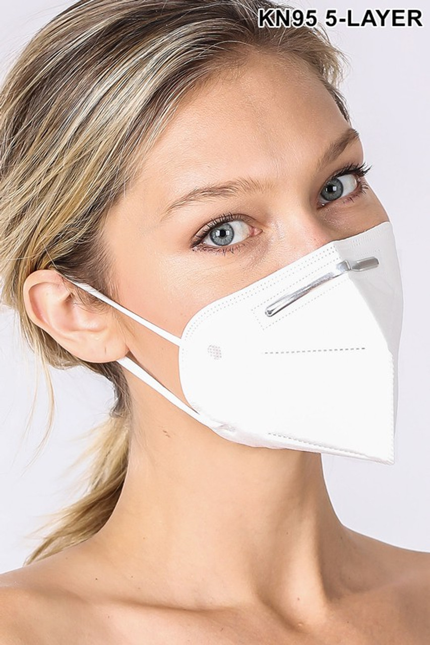 20 Pack - KN95 Oral Air Filtration Face Mask - 5 Layer - Individually Wrapped