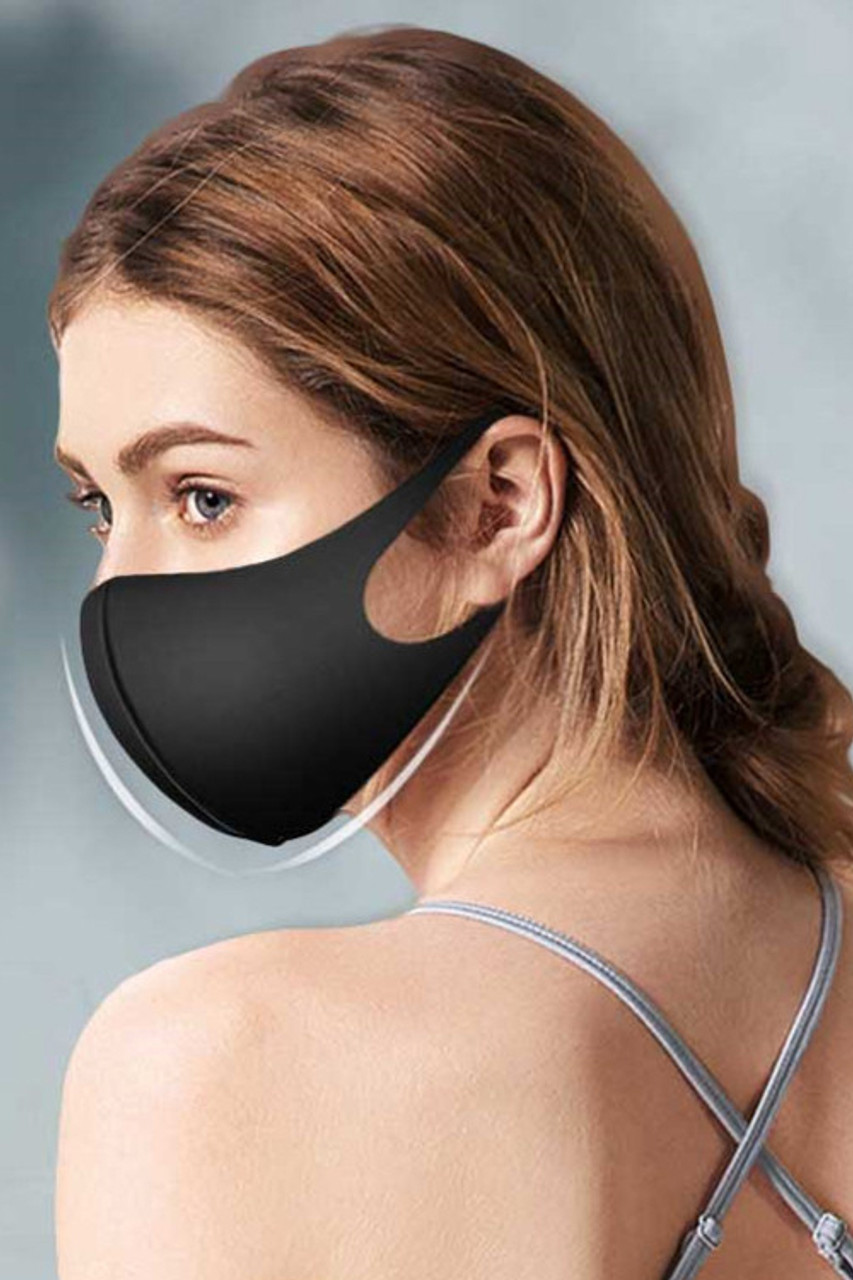 Easy Wear Comfort Fit 1 Ply Reusable Waterproof Face Mask - 5 Pack